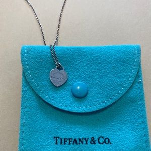 Return To Tiffany double heart silver necklace